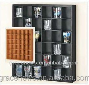 Display Cabinet Holder Rack Shot Glass Display Shelf