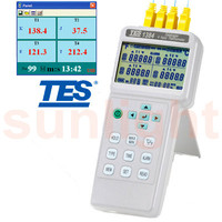 TES-1384 4 Input Thermocouple Thermometer with USB Datalogger