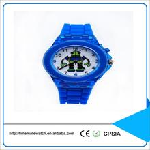 Cheap silicone wrist watch for kids japan movement quartz watch with square dial
