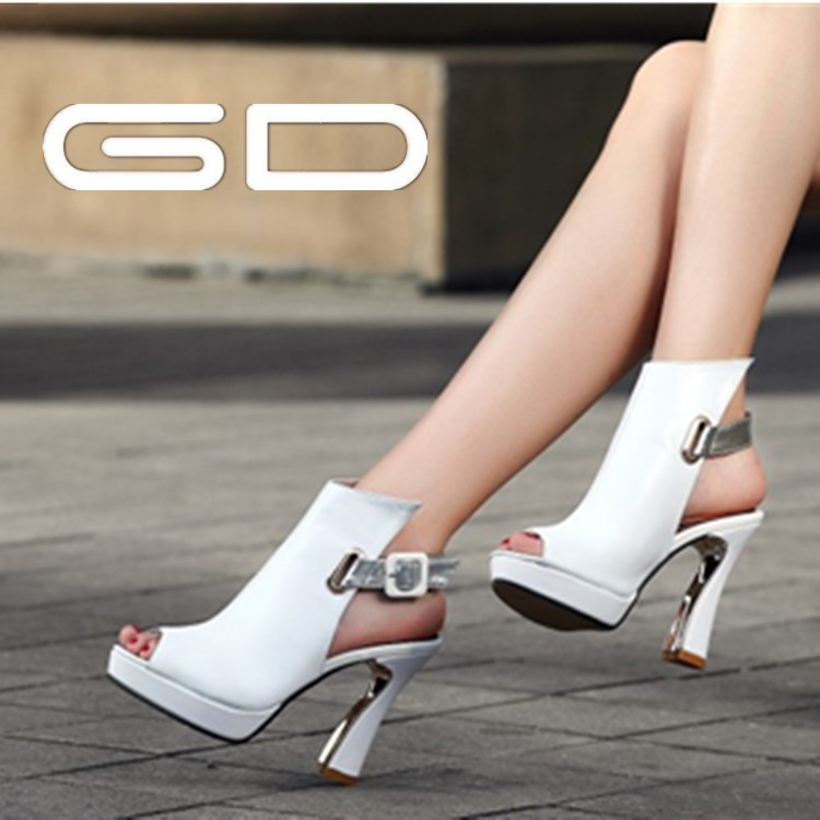 Hot sale women white high <strong>heels</strong>/ fashion lady sexy pumps 2015