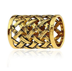Simple Retro Woven Mesh Tube Scarf Ring Alloy Women Jewelry Accessories