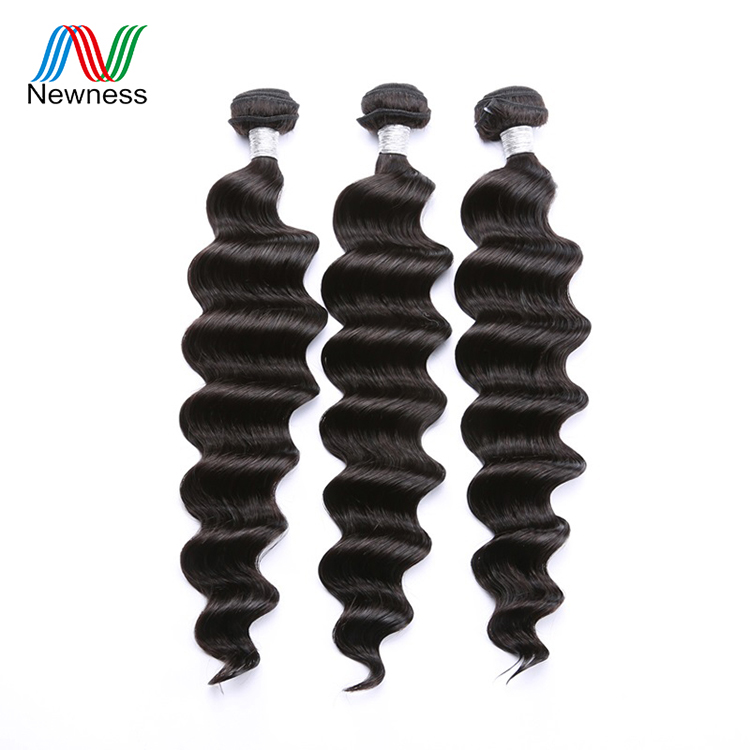 Directly From Factory unprocessed cuticle aligned virgin hair loose wave bundles raw loose wave, Natural color