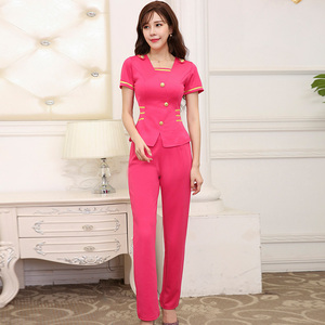 Whosale spa work clothes uniform spa beauty salon work wear