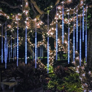 Waterproof Cascading 50cm 10 Tubes 540 LED Falling Meteor Shower Drop Christmas Light for Tree Decoration