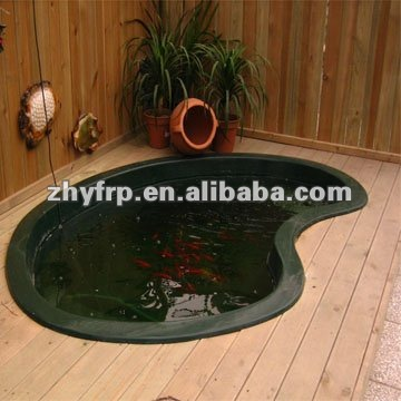 Stone shape outdoor fish fiberglass pond