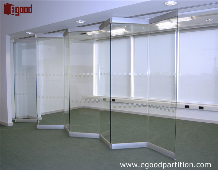 Exterior And Interior Use Frameless Sliding Folding Glass