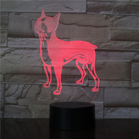 16 Colors Lovely Dog Pattern Design 3D Night Light Decorative USB Bedside Lamp For Baby Kids Birthday Party Christmas Gifts