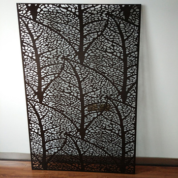 Laser Cut Decorative Panels Wall Parion Garden Divider Outdoor Metal Privacy Screens Screen