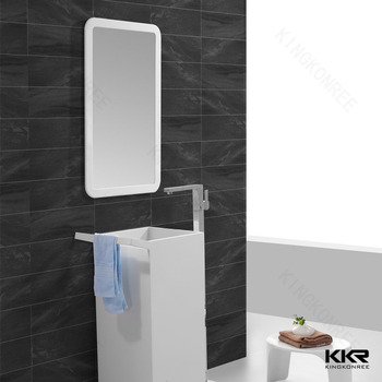 KKR New Design Bathroom Mirror With Acrylic Solid Surface Frame