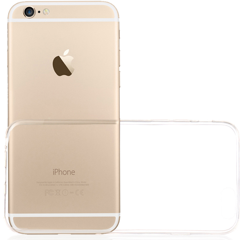 Cell Phone Case for Apple Iphone 6 4.7 inch Clear Transparent Soft+Hard Super Slim 2 Pieces Anti-Dirt Free Shipping