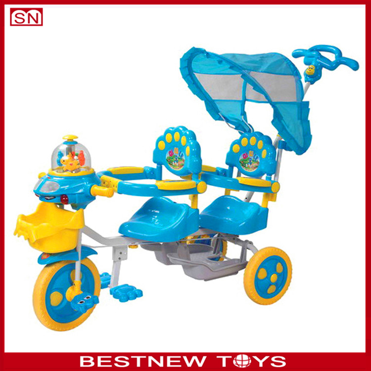 Children tricycle two seat wo seats baby tricycle for sale