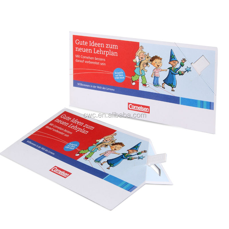 Paper business card usb flash drive 2GB-32GB with custom logo for promotion