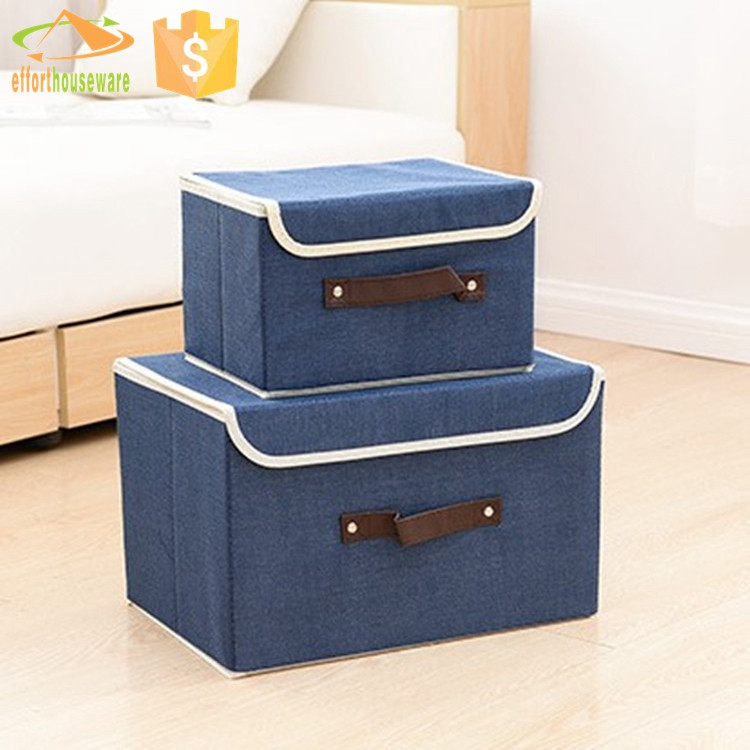Foldable With Cover Long Storage Boxes Flag With Drawer ...