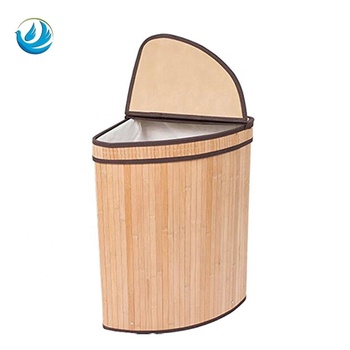 . Bathroom Corner Natural Bamboo Basket Clothes Storage Cool Dirty Laundry  Hamper With Lid And Liner String Handles For Sale   Buy Corner  Hamper Bamboo