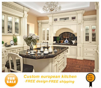 European hardwood cream kitchen sale