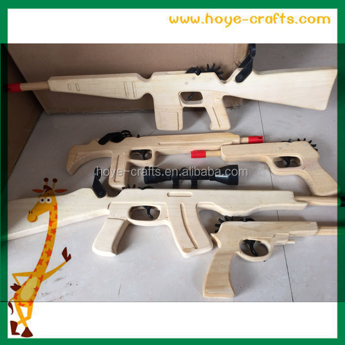 Rubber band gun AK-47 combat rifle with scope