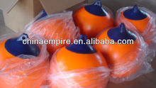 New inflatable PVC boat fender with orange color