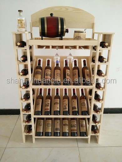 30 bottles red color wine rack