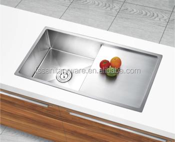 Australia Standard 304 Ss 1.2mm Hand Made Kitchen Sink With Drainer ...