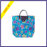 New products fashion waterproof colorful polyester stain tote bag for women