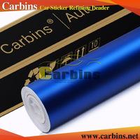 Carbins Dark Blue Matte Chrome Vinyl Car Wraps Car Body Stickers ...