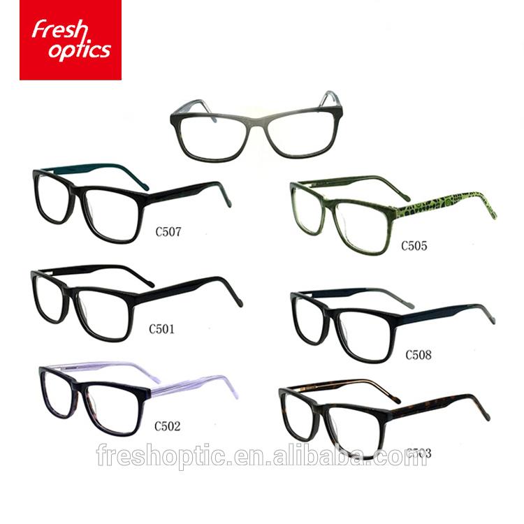 F115 japonés marcas de gafas miopía CE gafas de acetato de óptica ...