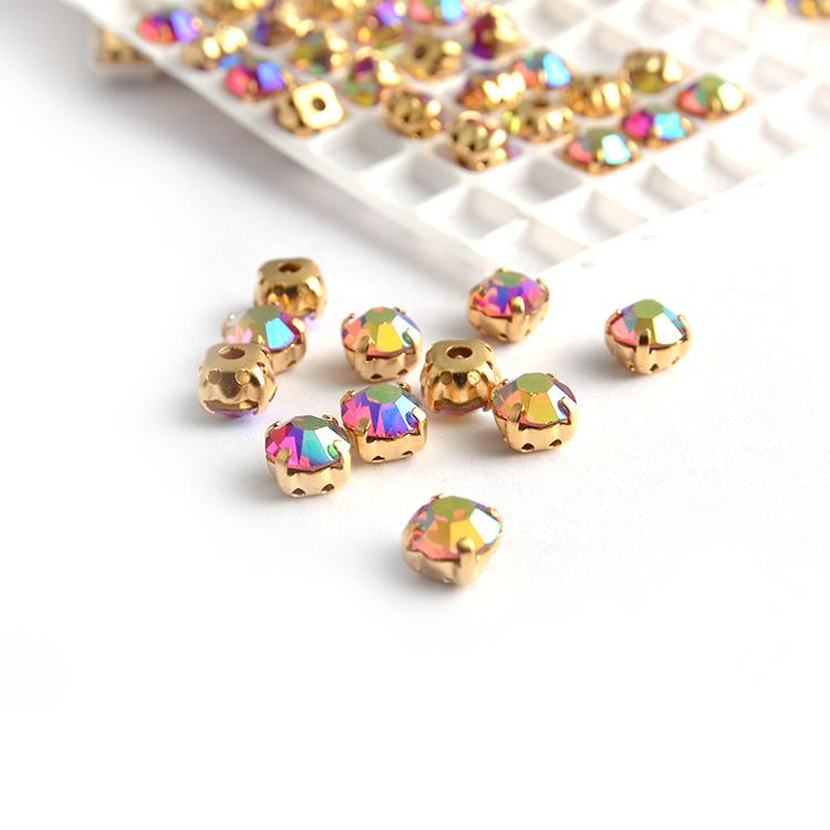 Wholesale Fashion Crystal Rhinestone With Claw/Rhinestones Round Sew On Crystal Stones Sliver-plated Claw Garment Accessories