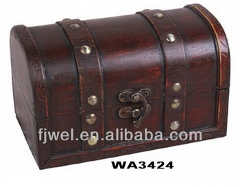 Charmant Small Antique Pirate Treasure Chest Storage Box