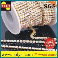 Crystal AB Diamond Rhinestone Roll Cup Chain Strass Rhinestone chain Trimmings For Dress