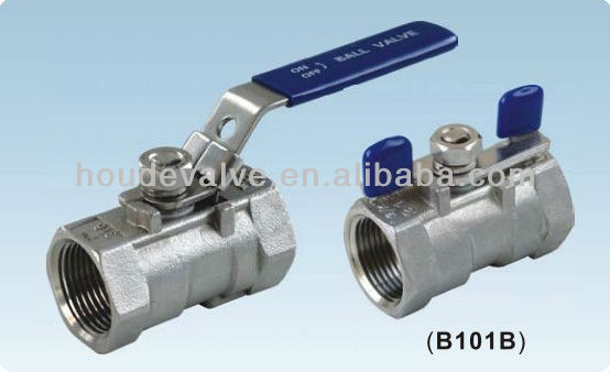 manual operation stainless steel casting 1PC ball valve