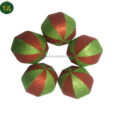 products Red and Green Color Plastic plain christmas balls ornaments bulk for Xmas Decor