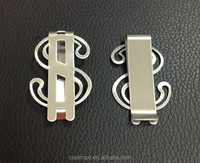 Dollar Shaped SILVER Plating Metal Money Clip