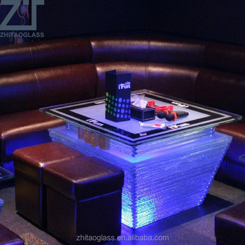 Glass Led Coffee Table 1