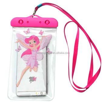 Cute Sealed Swimming Diving Waterproof Phone Bag Pouch For Galaxy Phone