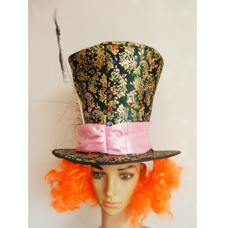 Party wholesale New Arrived Mad Hatter hat of Alice in Wonderland
