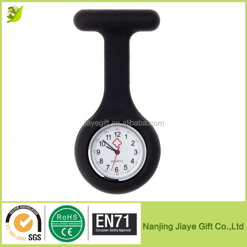 Fashion Nurse Clip-on Fob Silicone Jelly Hanging Pocket Watch