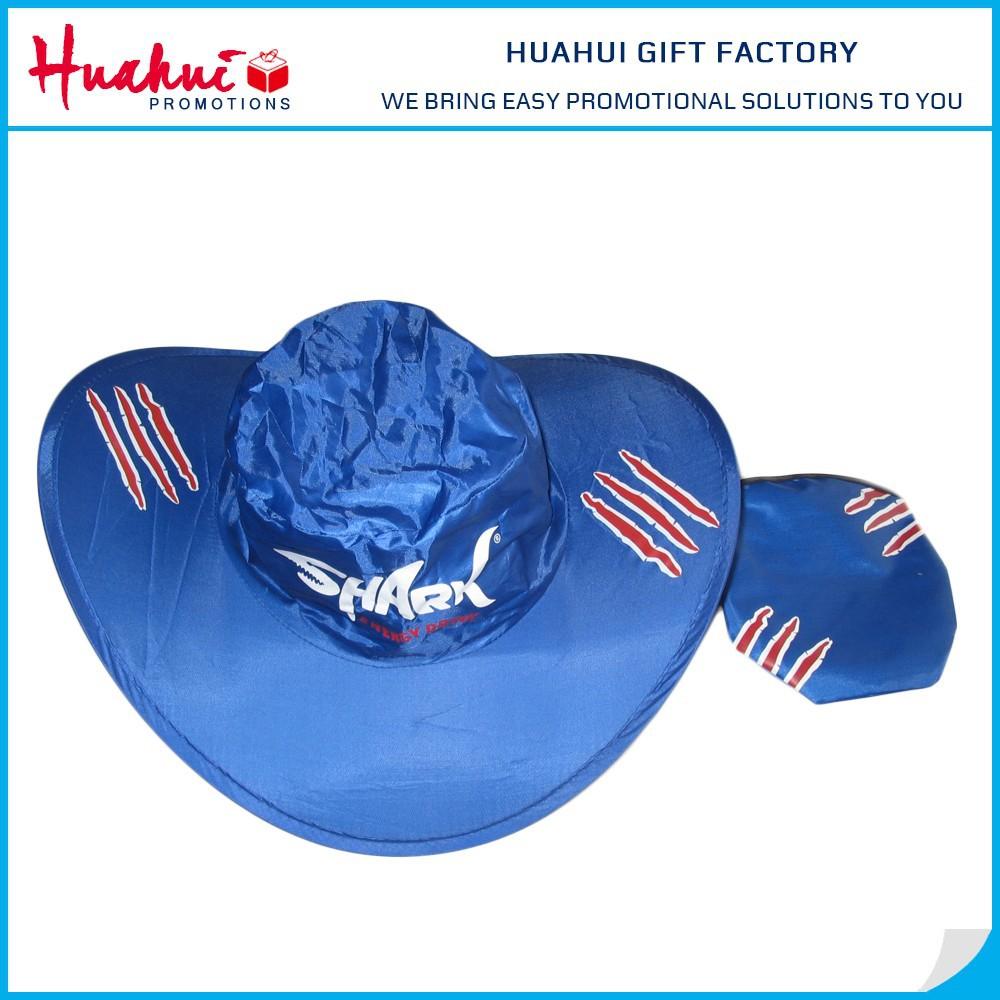 df078b8b6e235 Wholesale High Quality Custom Printed 190T Nylon Foldable Cowboy Hat ...