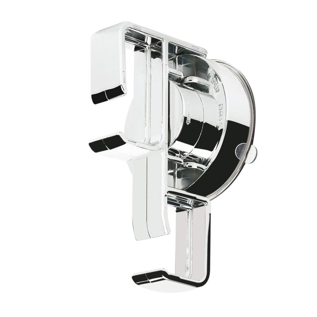Vacally Traceless Sucker Hook Washbasin Hook Bathroom Basin Tray Clamp Washbasin Storage Wishroom Tool