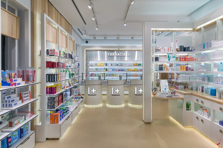 commercial and shop display furniture for medical store and pharmacy shop  interior design. commercial and shop display furniture for medical store and
