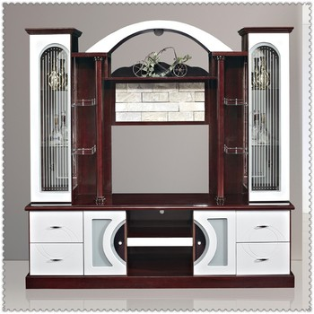 Mdf Red And White Living Room Cabinet Wall Units 815ab Tv