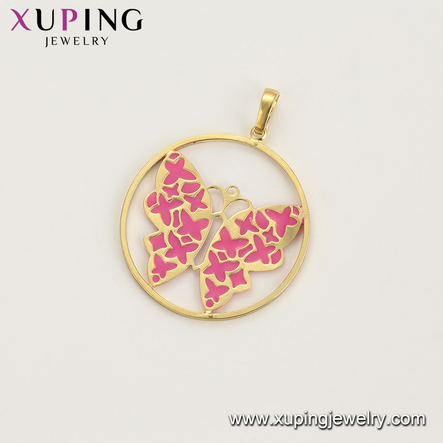 65174 xuping insect butterfly minimalist bijouterie 14k gold plated jewelry set making supplies