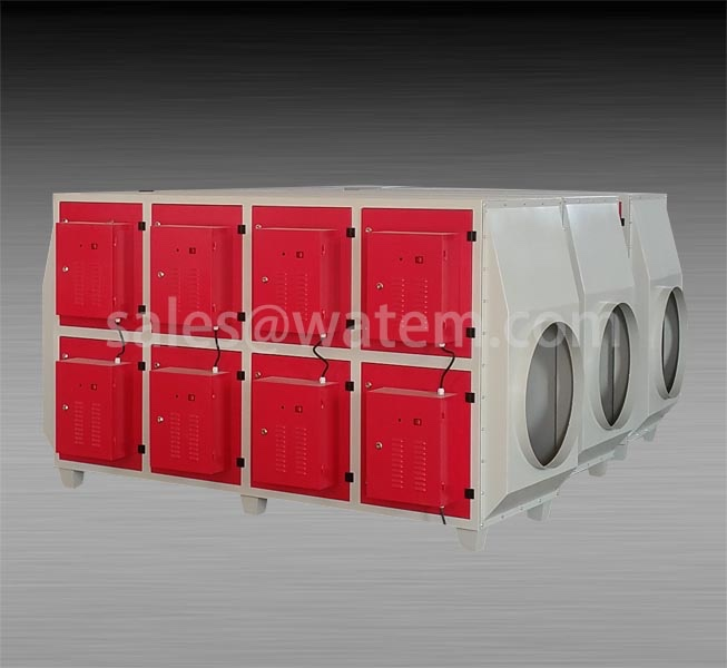 Industrial waste gas purifying plasma equipment