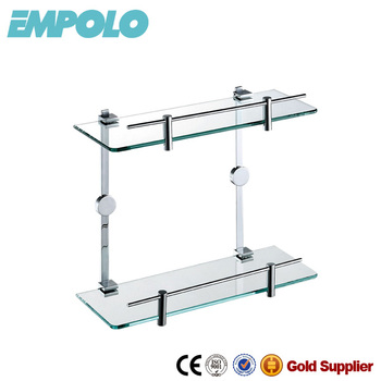 bathroom accessories double glass shelf wall hang glass rack for shampoo 931 12 - Bathroom Accessories Glass Shelf