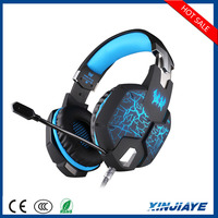 EACH G1100 Vibration Function Professional Gaming Headphone Game Headset with Mic Stereo Bass Breathing LED Light for PC Gamer