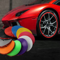 Car Exterior Accessories Rubber Alloy Wheel Rim Protector Self Adhesive Strip