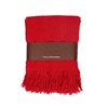 100 acrylic jacquard red color airline blanket with tassels