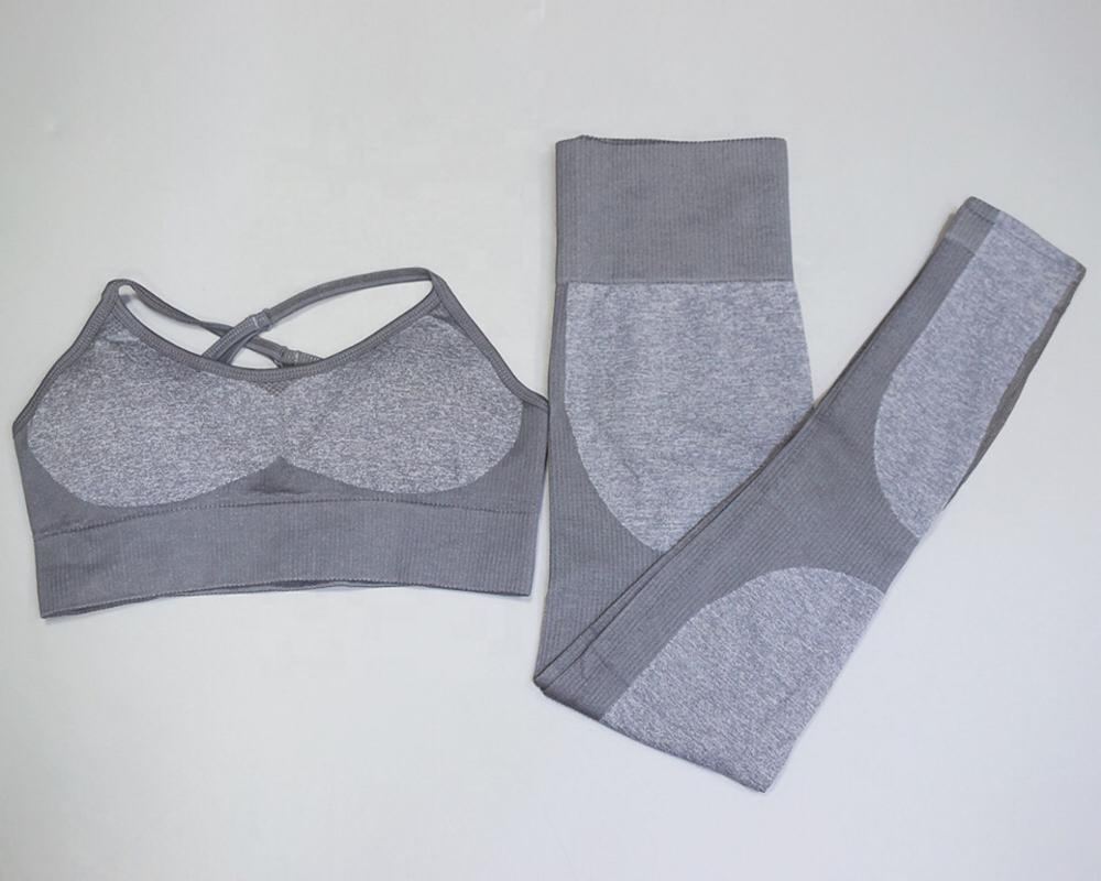 Wholesale Seamless High Quality Workout Women Yoga Set Custom Private Label Fitness Ladies Girls Sport Gym Wear Suit