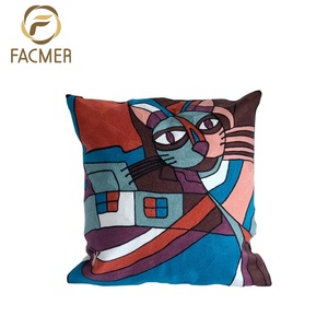 Fine Quality Picasso Pattern Many Colors 100% Cotton Embroider Home Decoration Throw Pillow Case Covers