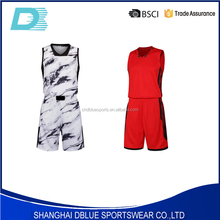 Customized latest free sample basketball uniform design