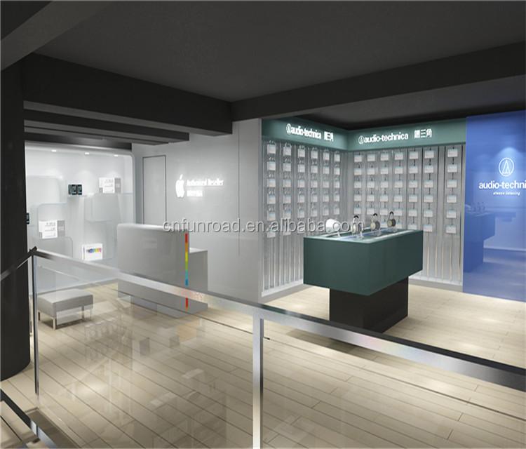 wooden showcase phone accessories store design display furniture